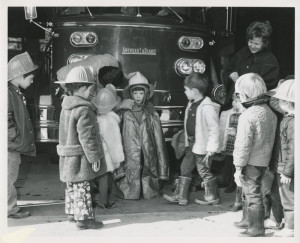 1970 Children at Fire Station - Copy
