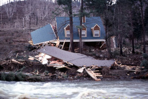 This vacation cabin and many more, were washed away as a result of the 1983 mudslide near Kyburz