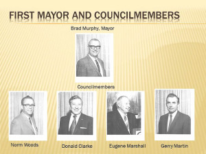 The first mayor and coucilmembers were studs!