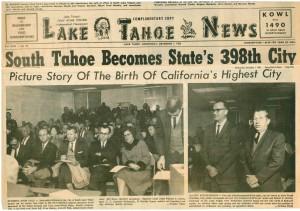 Tahoe making headlines in 1965!