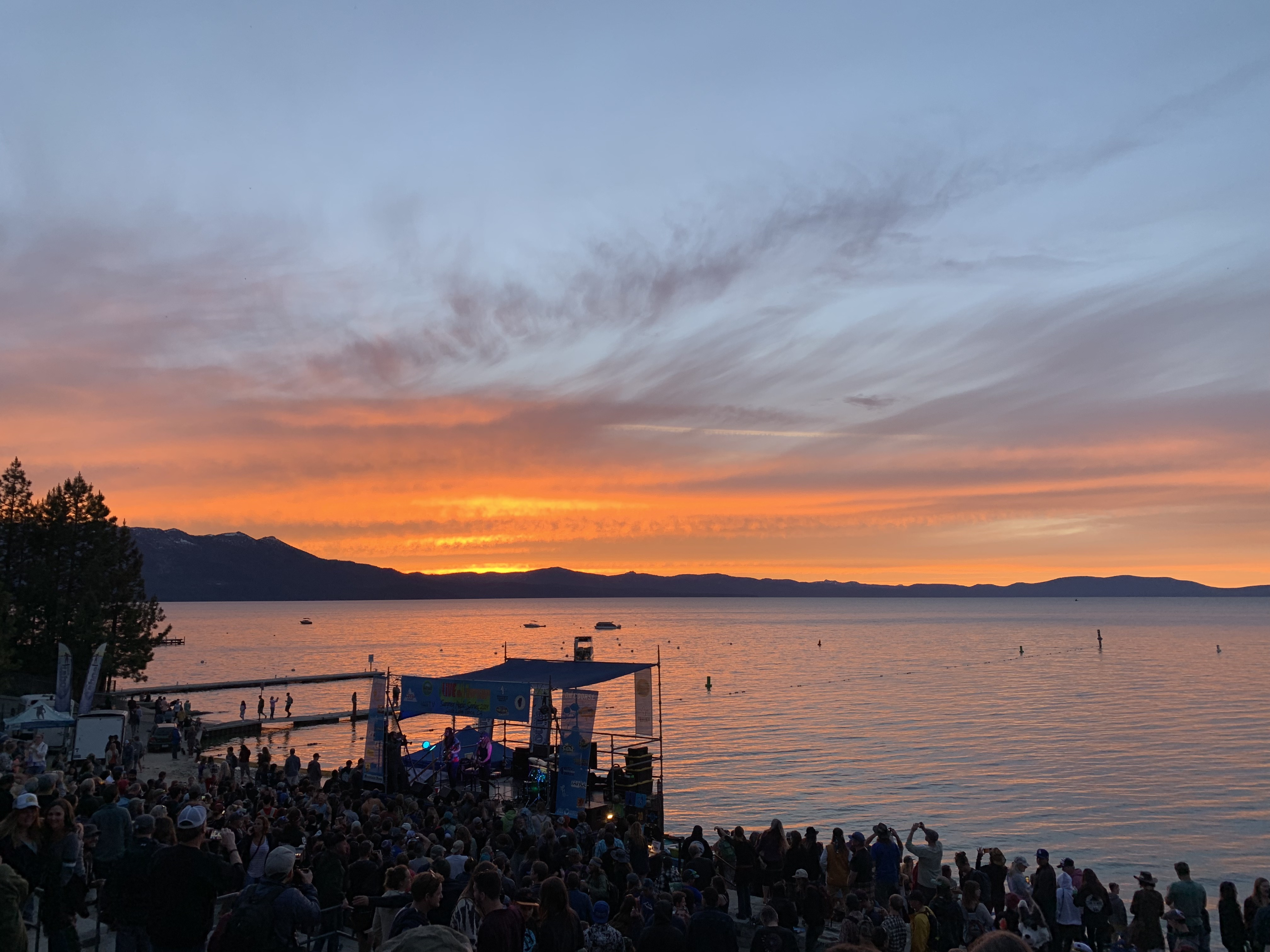 Catch the sunset and live music at Lakeview Commons during the Live at Lakeview Summer Concert Series
